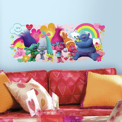 Trolls Movie Giant Wall Graphic roomset