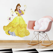 Disney Princess Belle Sparkling Giant Wall Decals with Glitter roomset