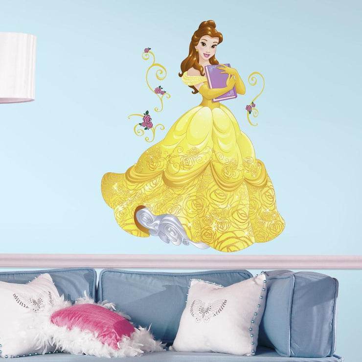 Disney Princess Belle Sparkling Giant Wall Decals with Glitter roomset 2