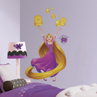 Disney Princess Rapunzel Sparkling Giant Wall Decals with Glitter roomset