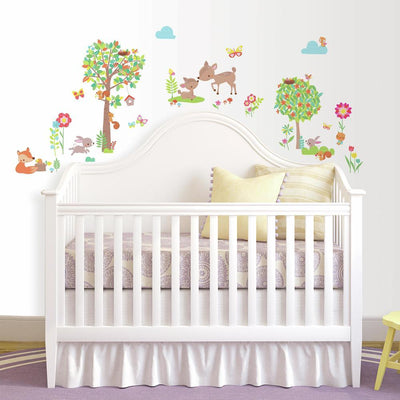 Woodland Creatures Peel and Stick Wall Decals roomset 2