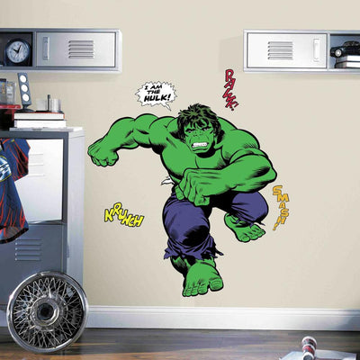 Classic Hulk Comic Giant Wall Decals roomset