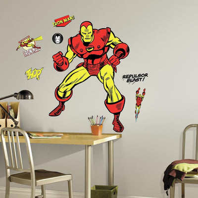 Classic Iron Man Comic Giant Wall Decals roomset