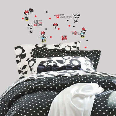 Minnie Rocks the Dots Peel and Stick Wall Decals roomset