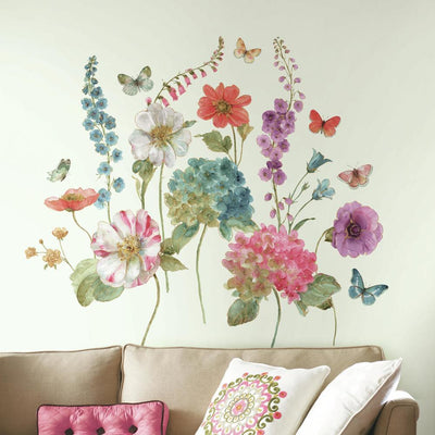 Lisa Audit Garden Flower Giant Wall Decals roomset