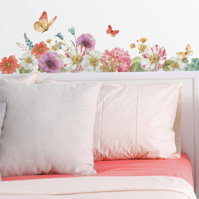 Lisa Audit Garden Bouquet Wall Decals roomset