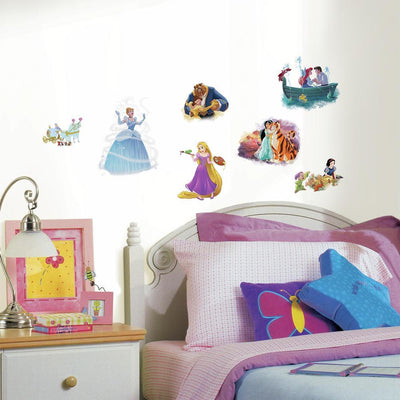 Disney Princess Dream Big Peel and Stick Wall Decals roomset