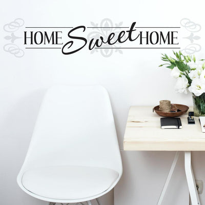 Home Sweet Home Quote Wall Decals roomset