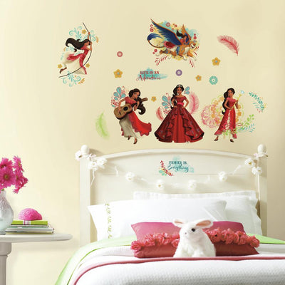 Disney Elena of Avalor Peel and Stick Wall Decals roomset