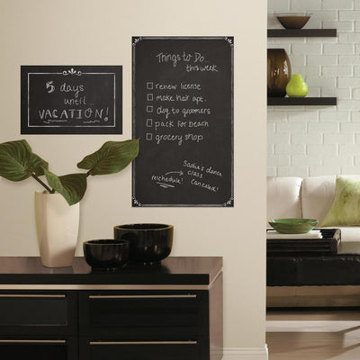 Decorative Chalkboard Giant Wall Decals roomset