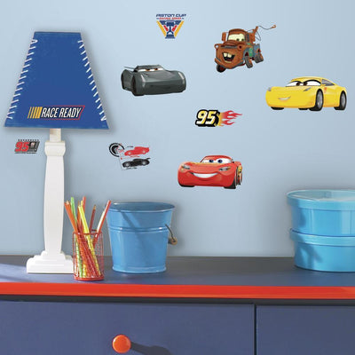 Disney Pixar Cars 3 Peel and Stick Wall Decals roomset