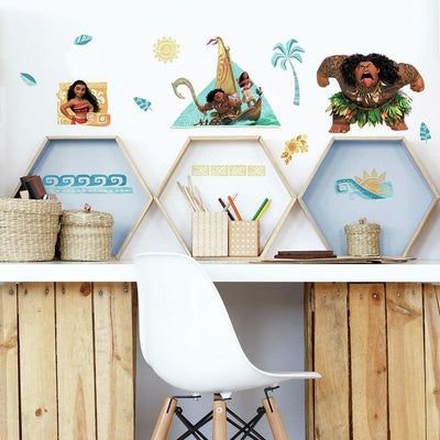 Disney Moana Peel and Stick Wall Decals roomset