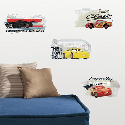 Cars 3 Racing Peel and Stick Wall Decals roomset