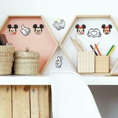 Disney Mickey and Minnie Emoji Peel and Stick Wall Decals roomset