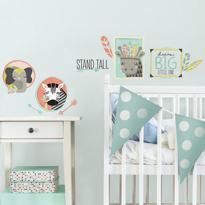 Little Explorer Animal Gallery Wall Decals roomset