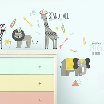 Little Explorer Animal Peel and Stick Wall Decals roomset