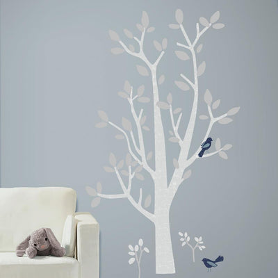 Patina Vie Woodland Tree Giant Wall Decals roomset