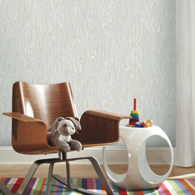 Patina Vie Wood Grain Peel and Stick Wallpaper roomset