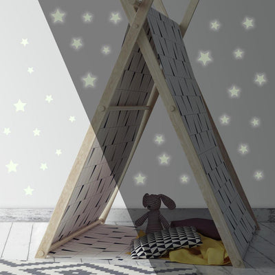 Glow in the Dark Star Peel and Stick Wall Decals roomset