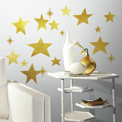 Star Peel and Stick Wall Decals with Foil roomset