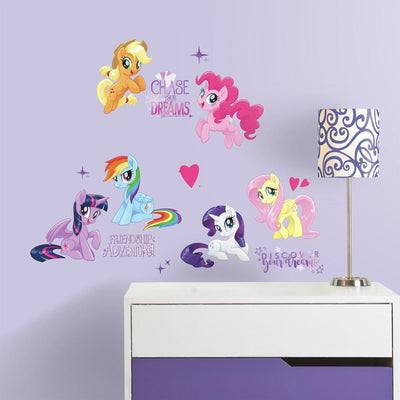 My Little Pony the Movie Peel and Stick Wall Decals with Glitter roomset