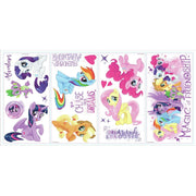My Little Pony the Movie Peel and Stick Wall Decals with Glitter sheet