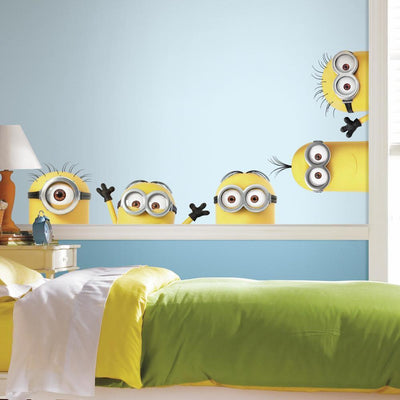 Despicable Me 3 Peeking Minions Giant Wall Decals roomset