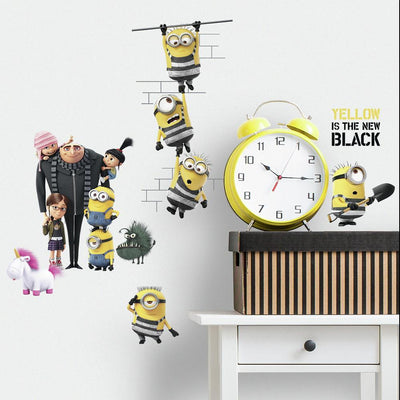 Despicable Me 3 Peel and Stick Wall Decals roomset