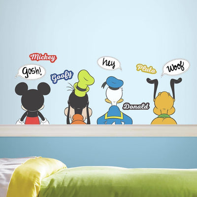 Mickey and Friends Peel and Stick Wall Decals with Dry Erase roomset
