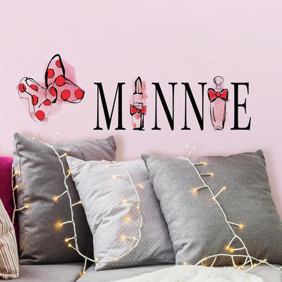 Minnie Mouse Perfume Peel and Stick Wall Decals roomset