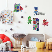 PJ Masks Peel and Stick Wall Decals roomset 2