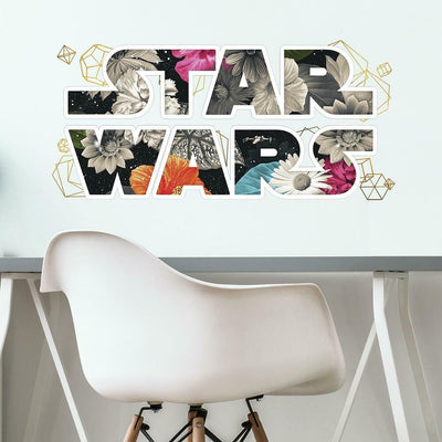 Star Wars Floral Logo Peel and Stick Wall Decals with Foil roomset