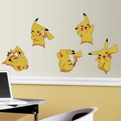 Pokemon Pikachu Peel and Stick Wall Decals roomset