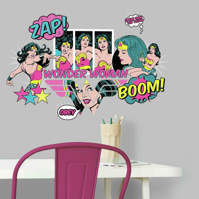 Wonder Woman Pop Art Peel And Stick Wall Decals