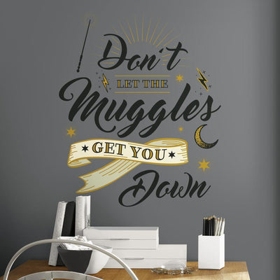 Harry Potter Muggles Wall Quote Giant Wall Decals roomset