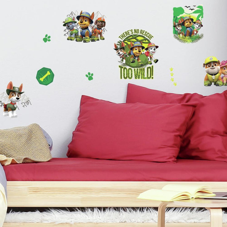Jungle Paw Patrol Peel and Stick Wall Decals roomset 2