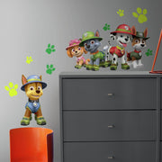 Jungle Paw Patrol Giant Wall Decals roomset