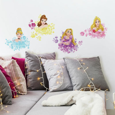 Disney Princess Floral Peel and Stick Wall Decals roomset