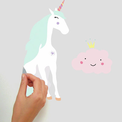 Unicorn Magic Peel and Stick Wall Decals peel