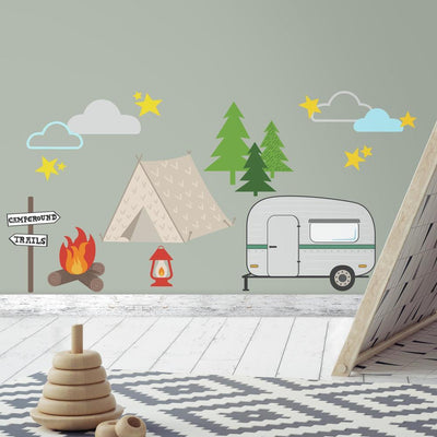 Camping Peel and Stick Wall Decals roomset