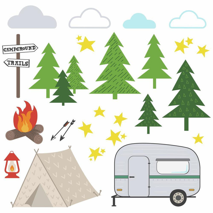 Camping Peel and Stick Wall Decals