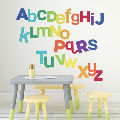 Multicolored Alphabet Giant Wall Decals roomset