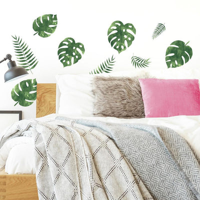 Palm Leaves Wall Decals roomset