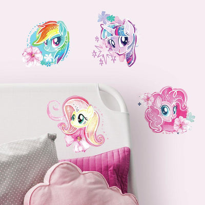 My Little Pony the Movie Watercolor Peel and Stick Wall Decals roomset