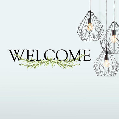 Welcome Wall Quote Peel and Stick Decal roomset