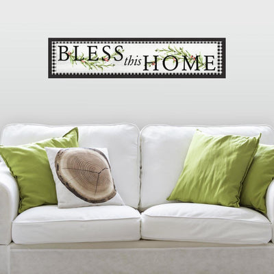 Bless this Home Country Wall Quote Peel and Stick Wall Decals roomset