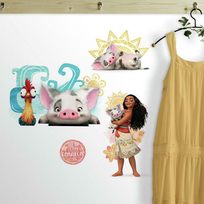 Disney Moana and Friends Peel and Stick Wall Decals roomset