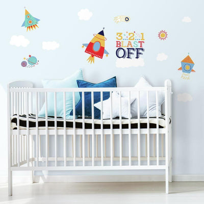 Shoot for the Moon Peel and Stick Wall Decals roomset