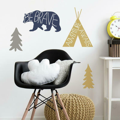 Adventure Awaits Animal Giant Wall Decals roomset