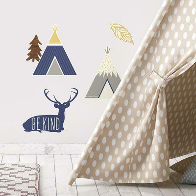 Adventure Awaits Animal Wall Decals roomset